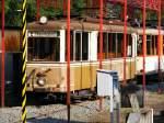 ruhrgebiet/118874/ein-ausgemusterter-aufbau-triebwagen-der-dortmunder-strassenbahn Ein ausgemusterter Aufbau-Triebwagen der Dortmunder Straßenbahn steht in dem kleinen Verkehrsmuseum am 'Mooskamp' in Dortmund-Nette - 04.07.2010.