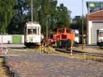 ruhrgebiet/118876/ausgemusterte-schienenfahrzeuge-stehen-am-04072010-in Ausgemusterte Schienenfahrzeuge stehen am 04.07.2010 in dem kleinen Verkehrsmuseum am 'Mooskamp' in Dortmund-Nette.