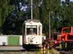 ruhrgebiet/118878/ein-ausgemusterter-aufbau-triebwagen-der-dortmunder-strassenbahn Ein ausgemusterter Aufbau-Triebwagen der Dortmunder Straßenbahn steht in dem kleinen Verkehrsmuseum am 'Mooskamp' in Dortmund-Nette - 04.07.2010.